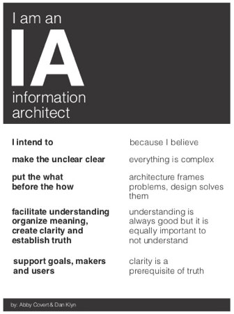 I am an Information Architect